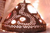 Photo-lighting-hanging-shell-weave