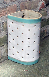 chun white double green chun bands vertical holes 12x6x6 $185